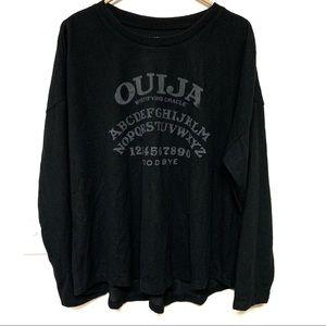 Ouija Board Cozy Oversized Long Sleeve Top XL